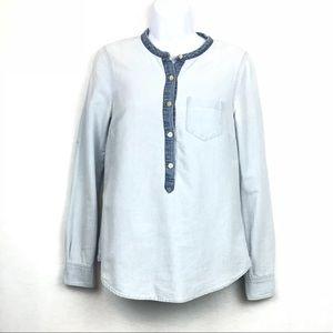 J. Crew Denim Button Down Shirt 100% Cotton